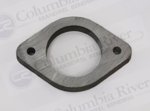 """1.13"""" 2 Bolt Universal Exhaust Flange, 3/8"""", 304 Stainless"""