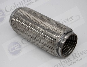 "3.50"" ID x 10.00"" Long, Stainless Flex Tube"