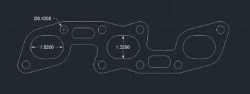 "Nissan 3.0L VG30DE Header Gasket, 0.093"" Copper"